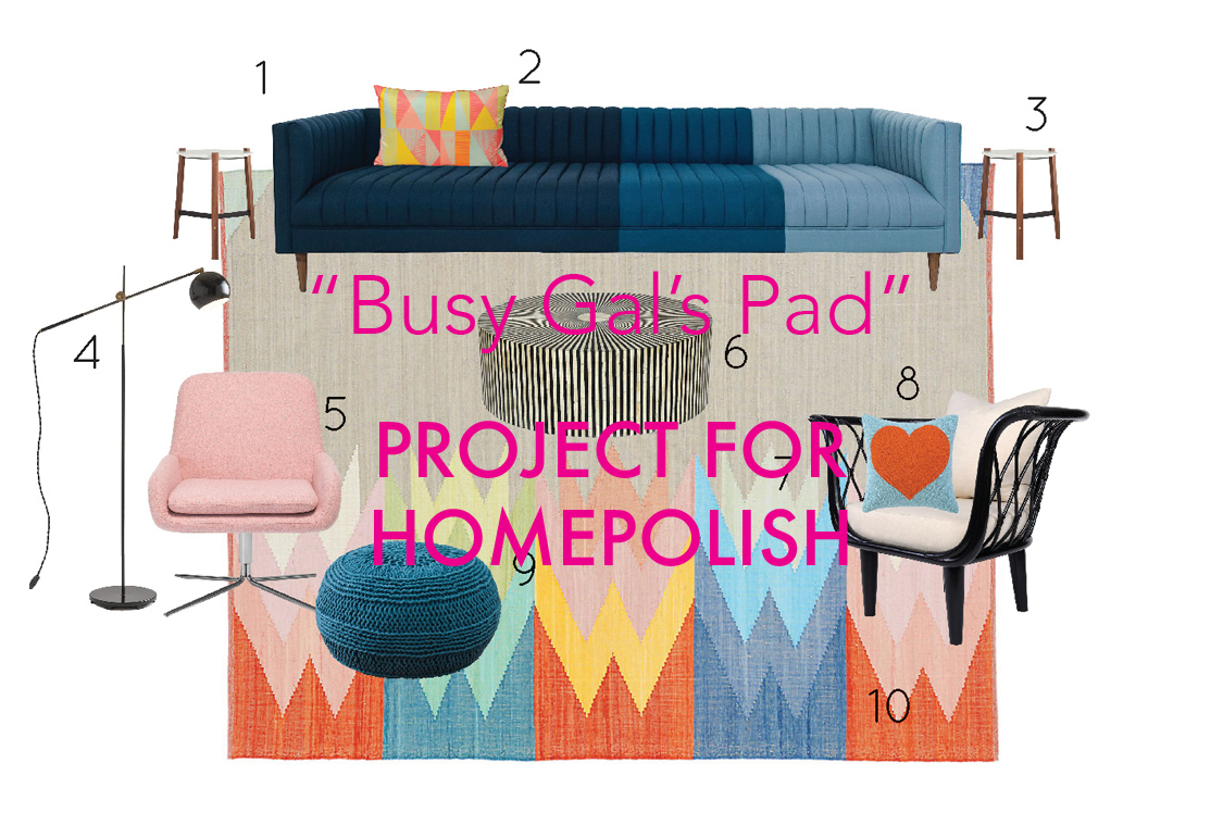 """""""Busy Gal's Pad"""" Project for Homepolish"""