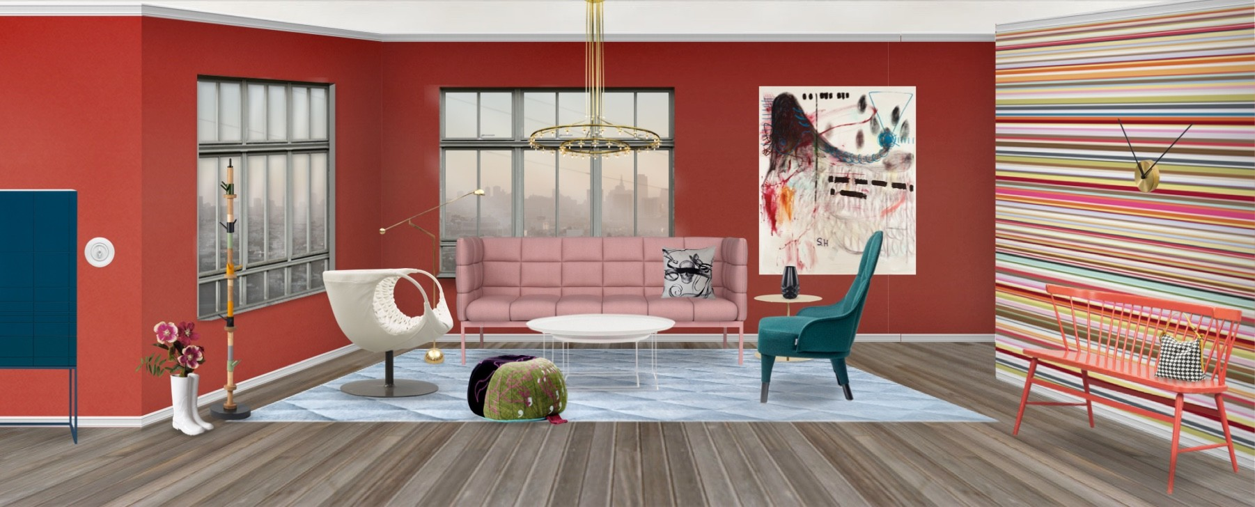 Modern Luxe Living in a Kaleidoscope of Colors