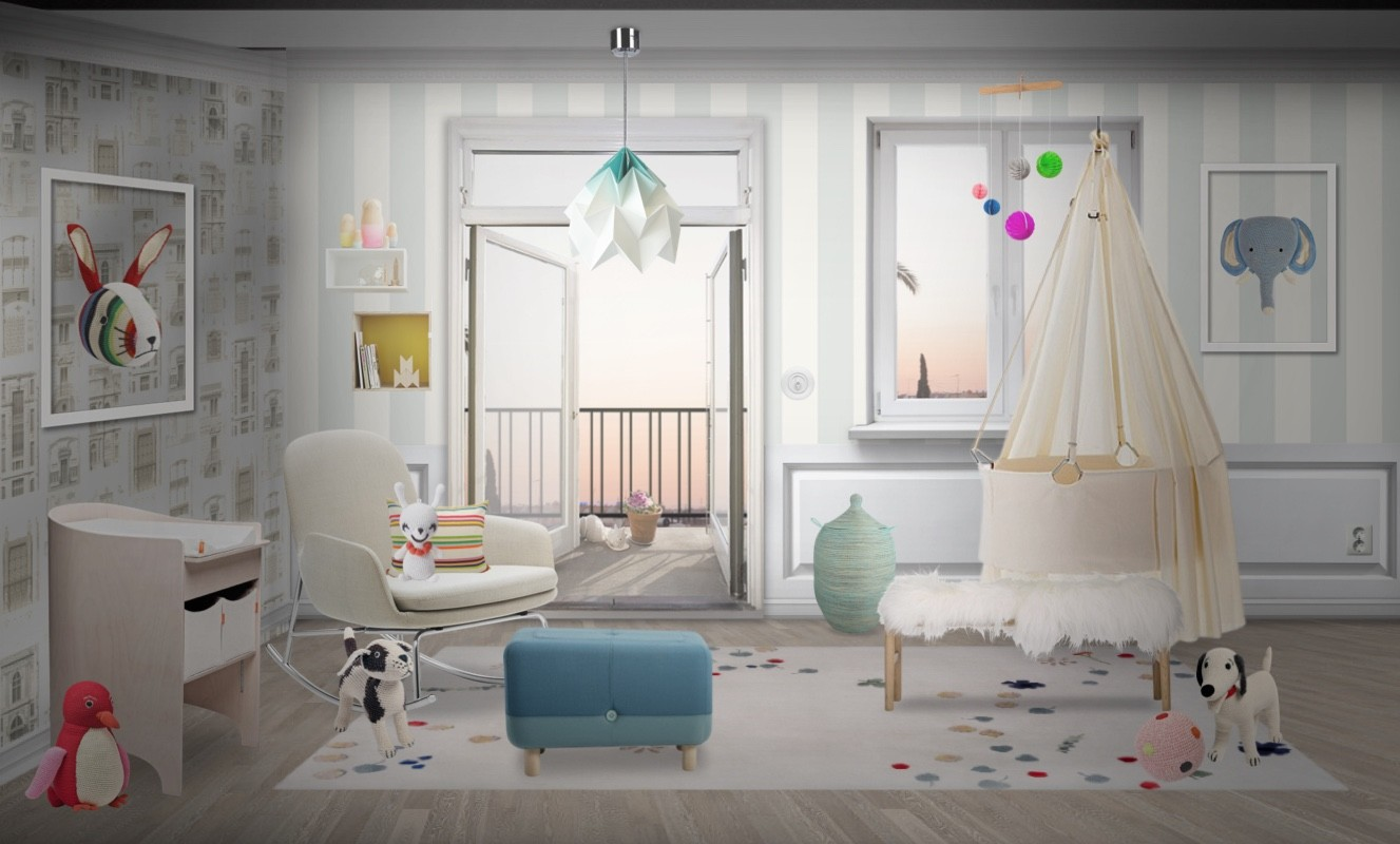 Sweet + Soft Scandinavian Nursery