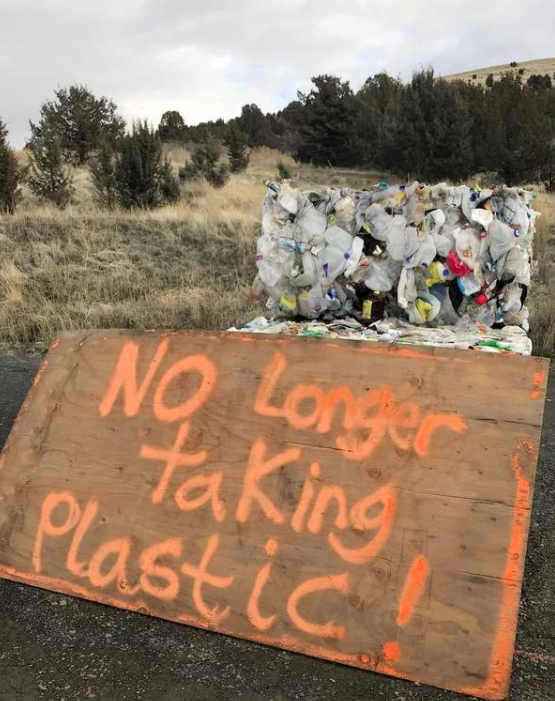 A US-based transfer station is among many outlets no longer taking plastics for recycling after China's ban on importing 24 types of solid waste. (Image  BME )