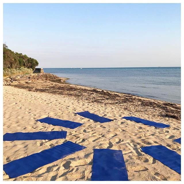 This time last week #beachyoga