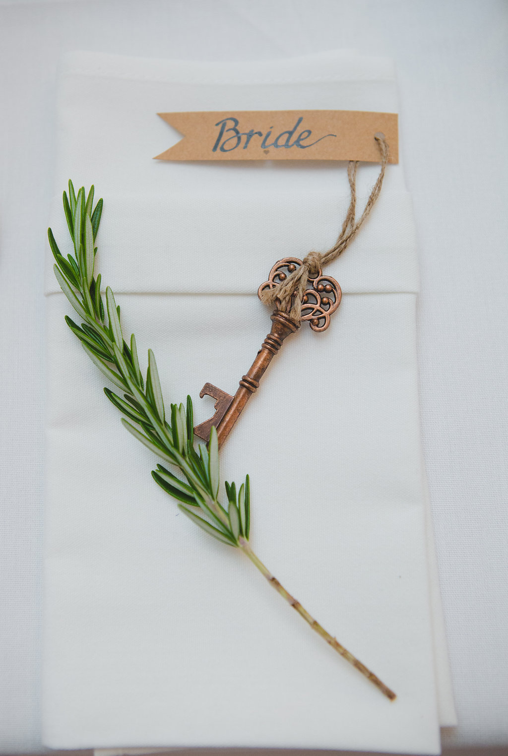 Our calligraphy on tags supplied by the client