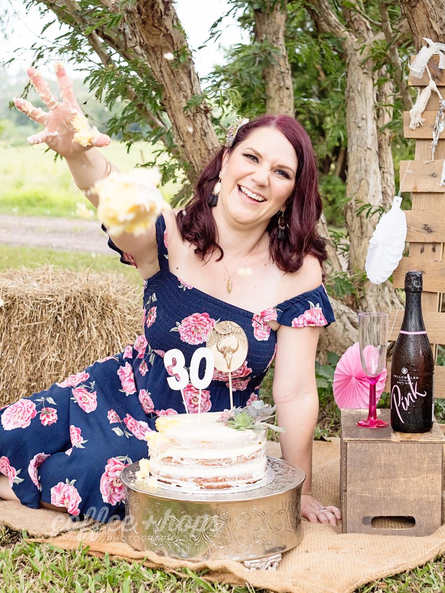 Samantha's 30th Birthday Cake Smash Session in Mackay