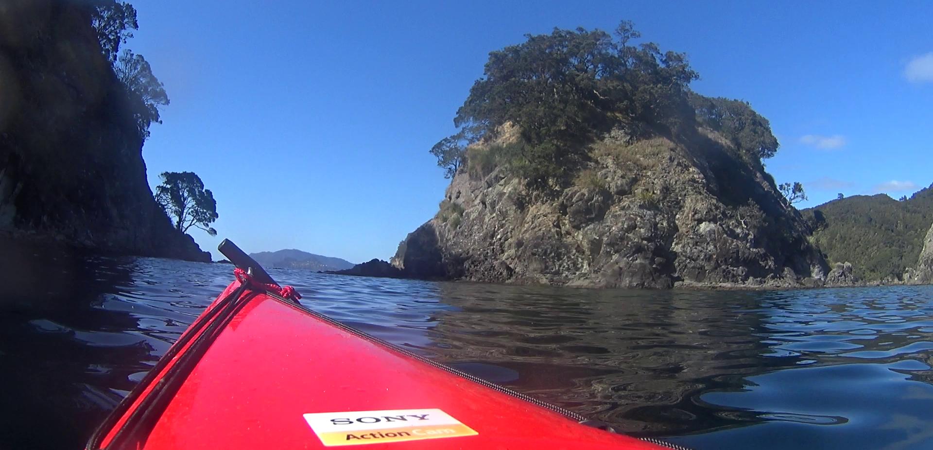 Waipapa Island on the left