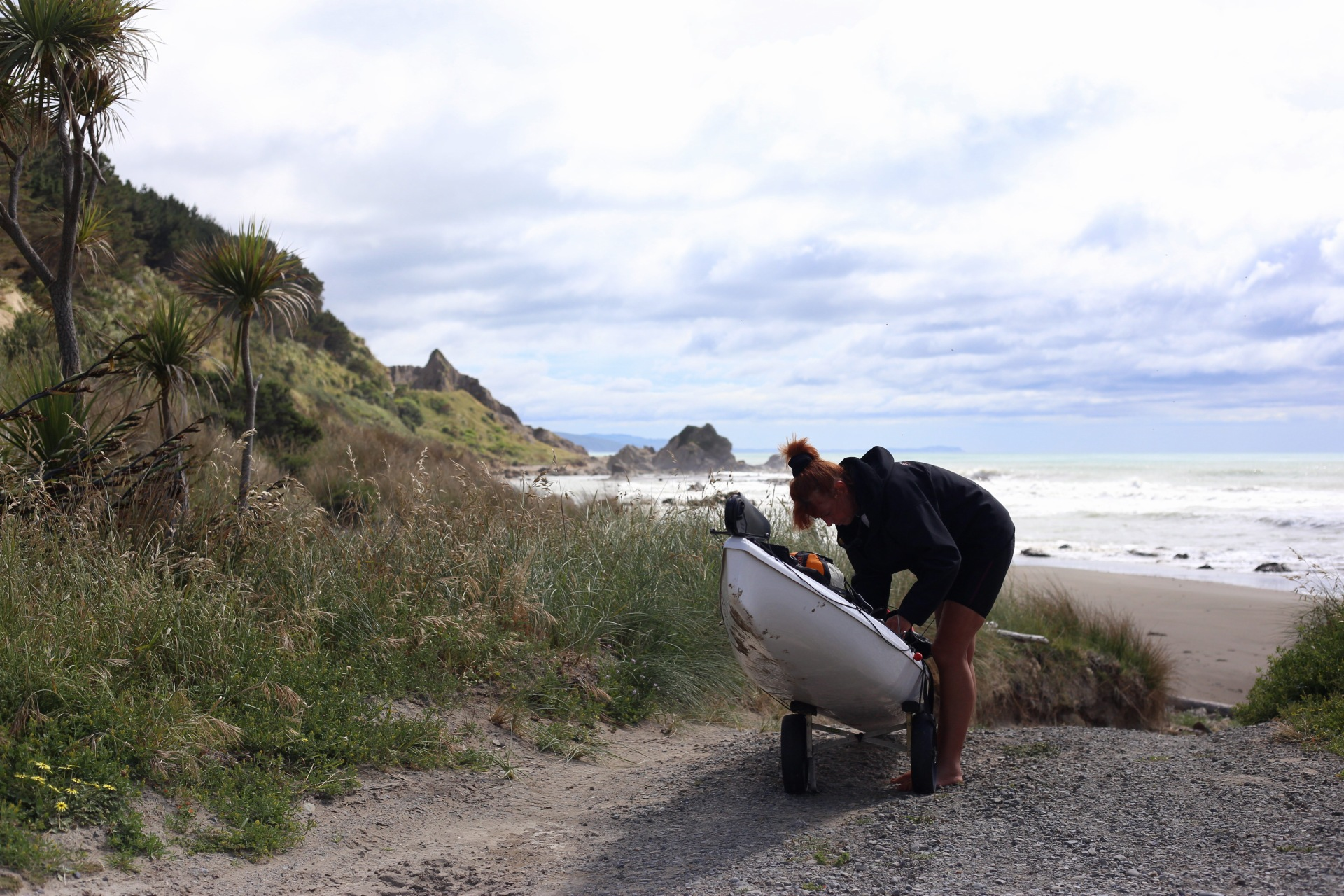 Red getting Louise packed up for a paddle