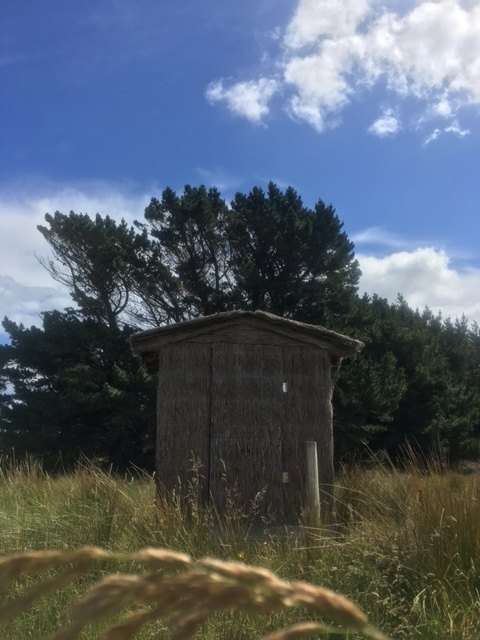 Beautiful outdoor roadside toilet