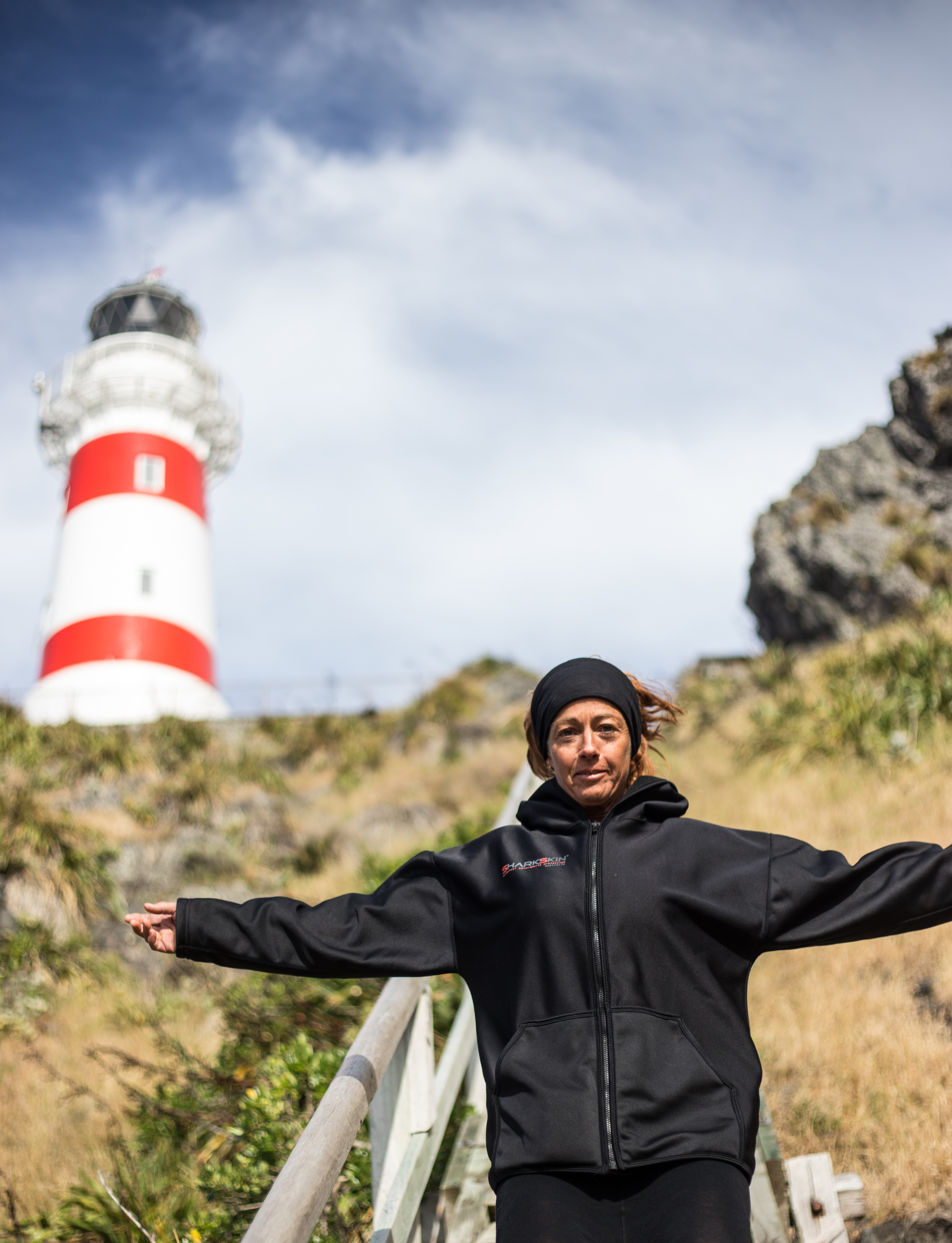 Red with Cape Palliser Lighthouse