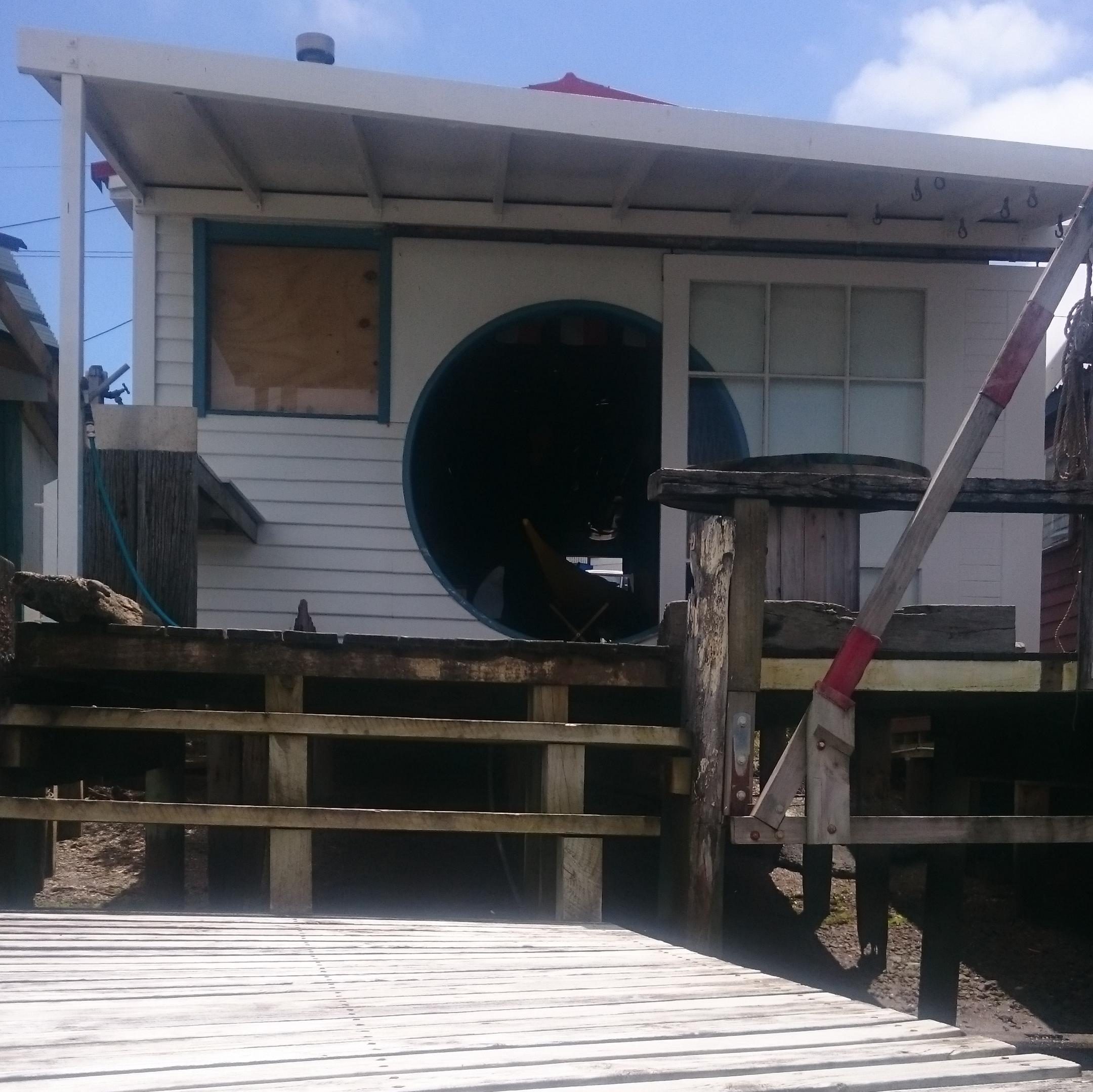 Conrad's beautiful boatshed