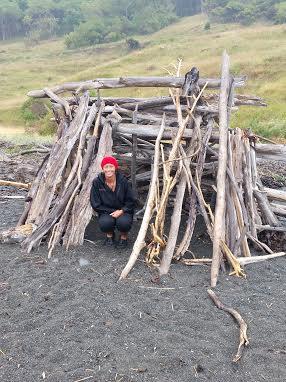 Cool beach driftwood bivvie