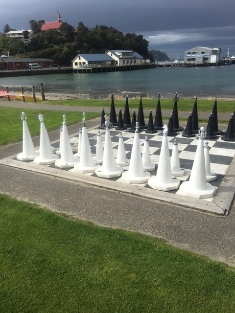 Recycled chess set in Oban