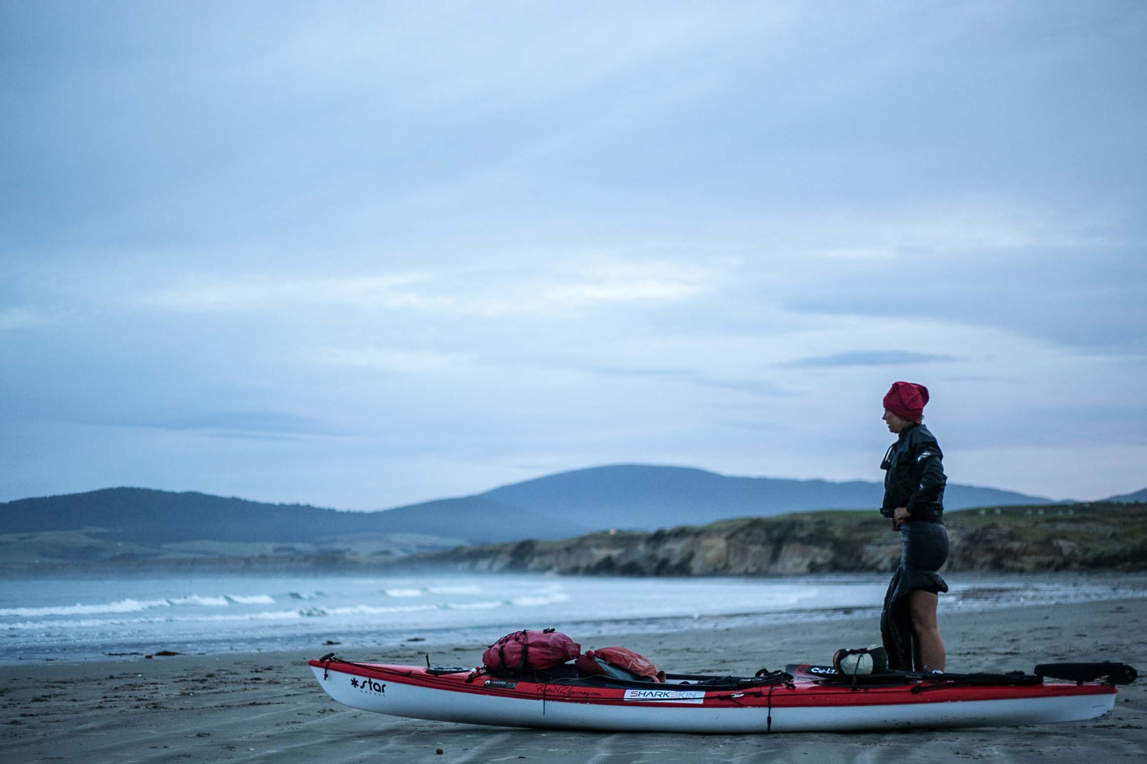 Red taking a deep breath before starting the 400km around Fiordland
