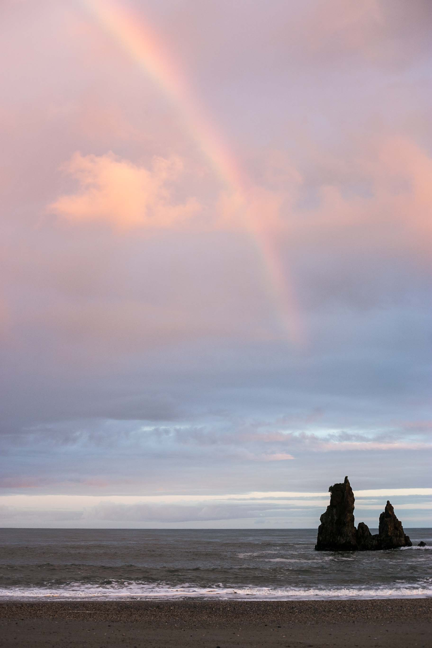 The rainbow from Mussel Point