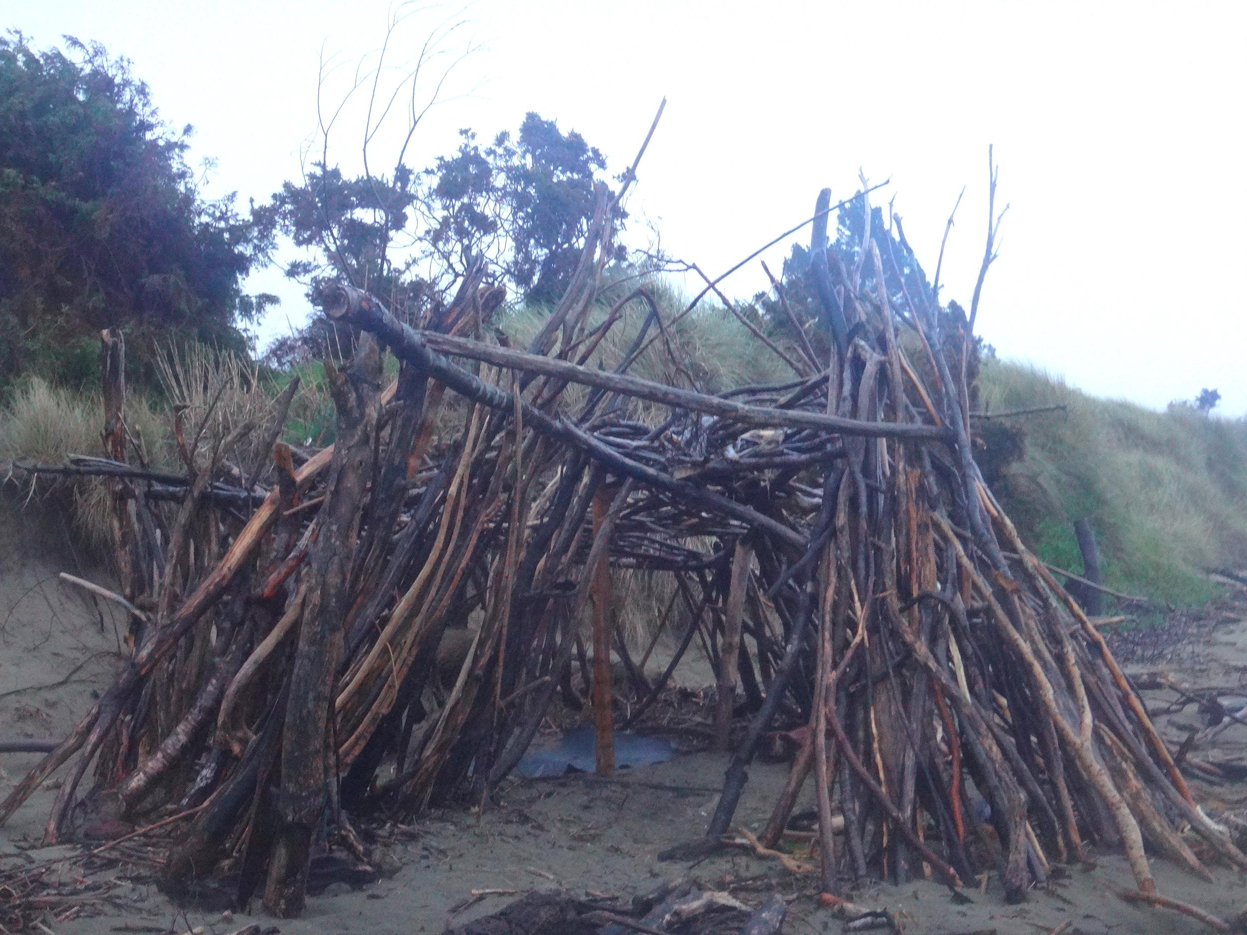 My driftwood shack.