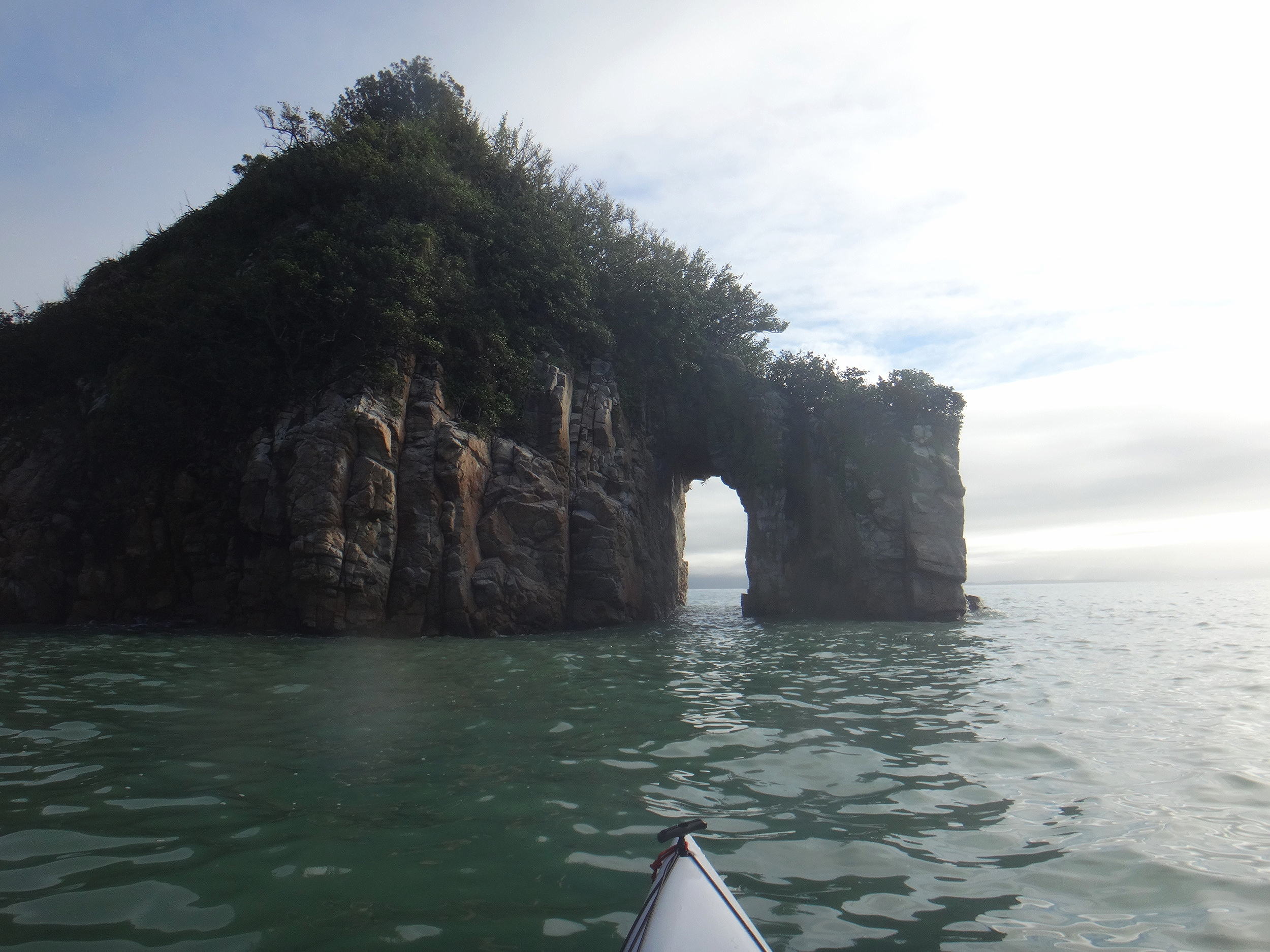 Archways are for paddling through.