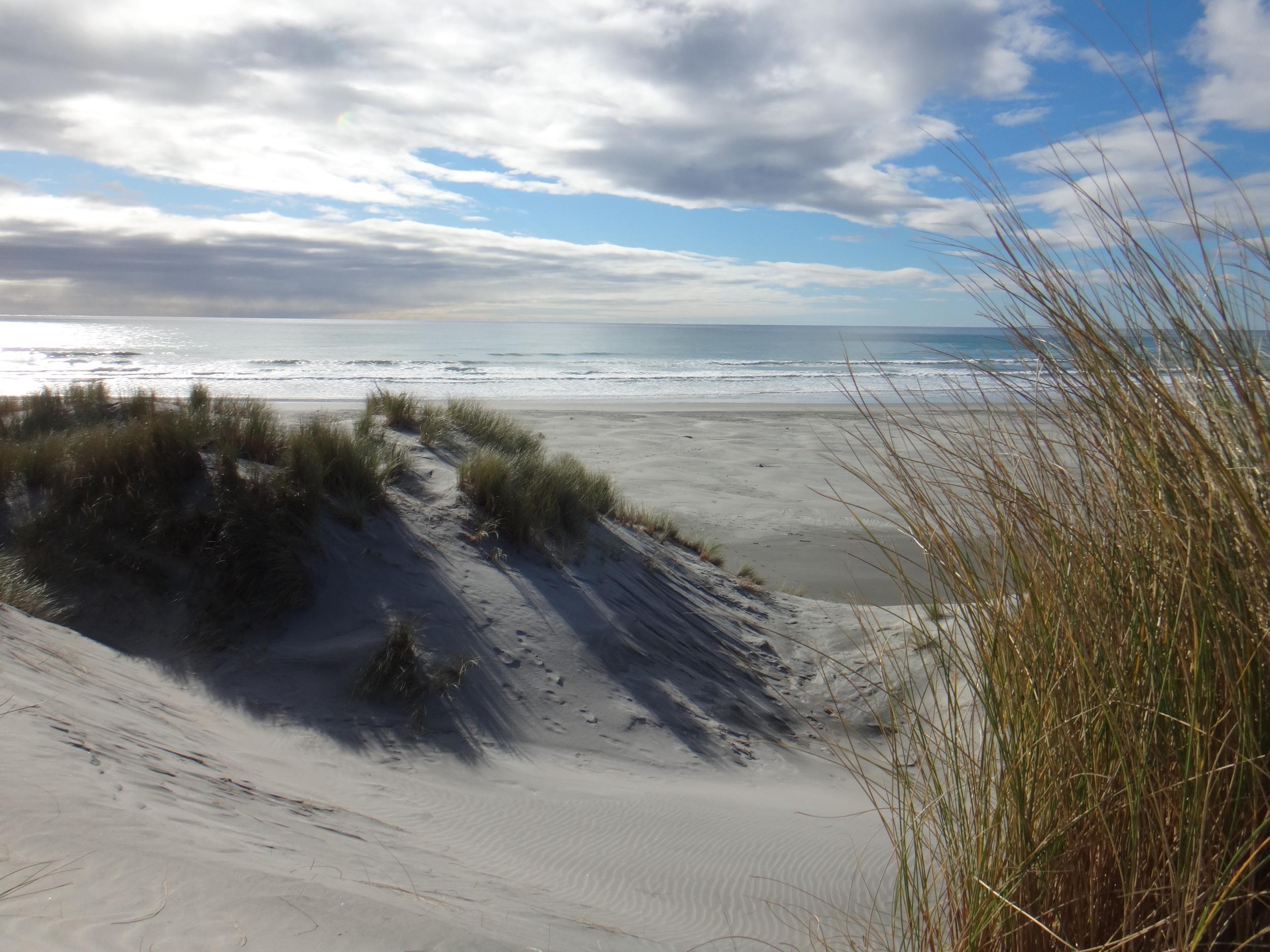 Crying sand dunes.