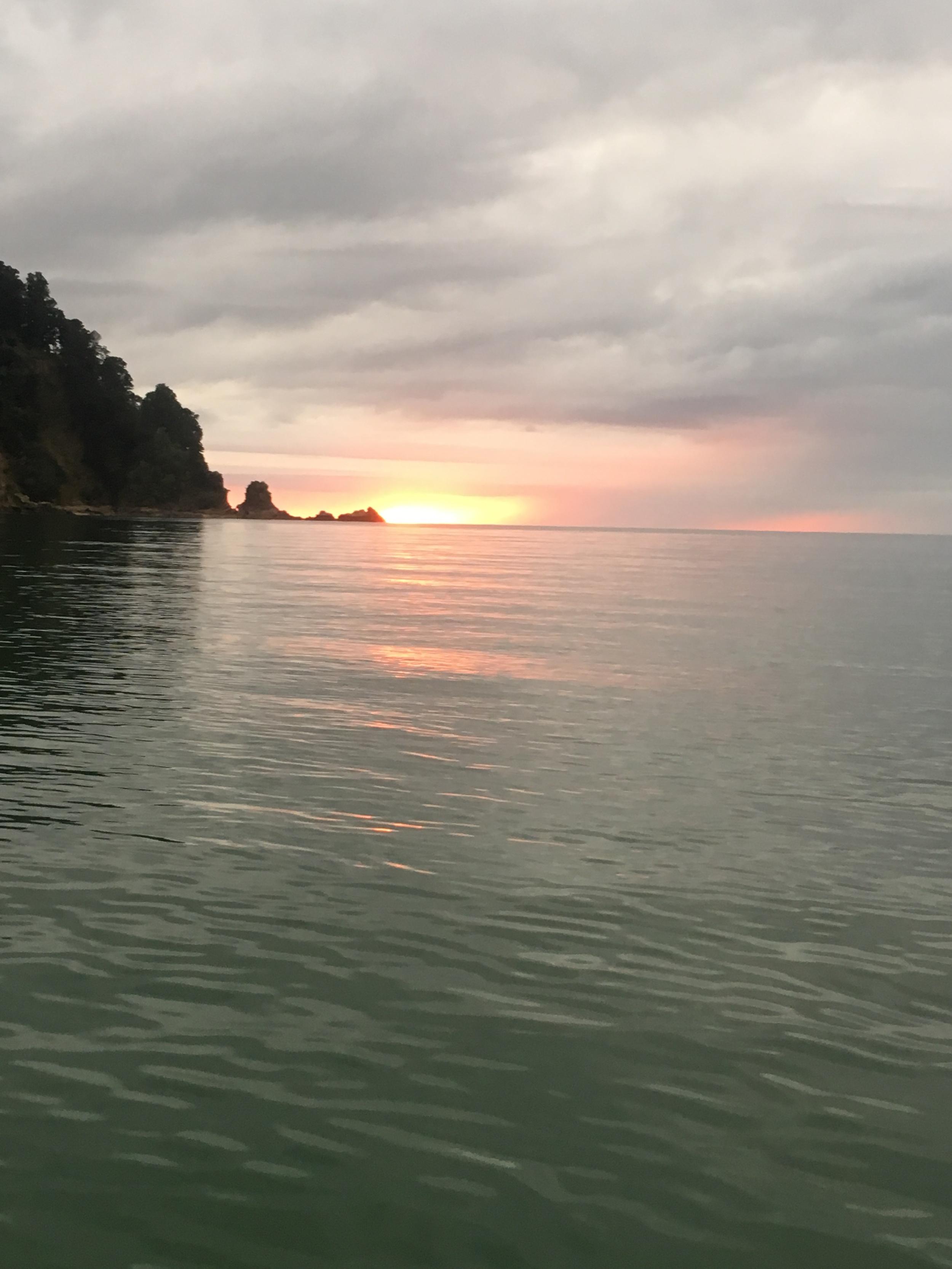 Sunrise at Totaranui.