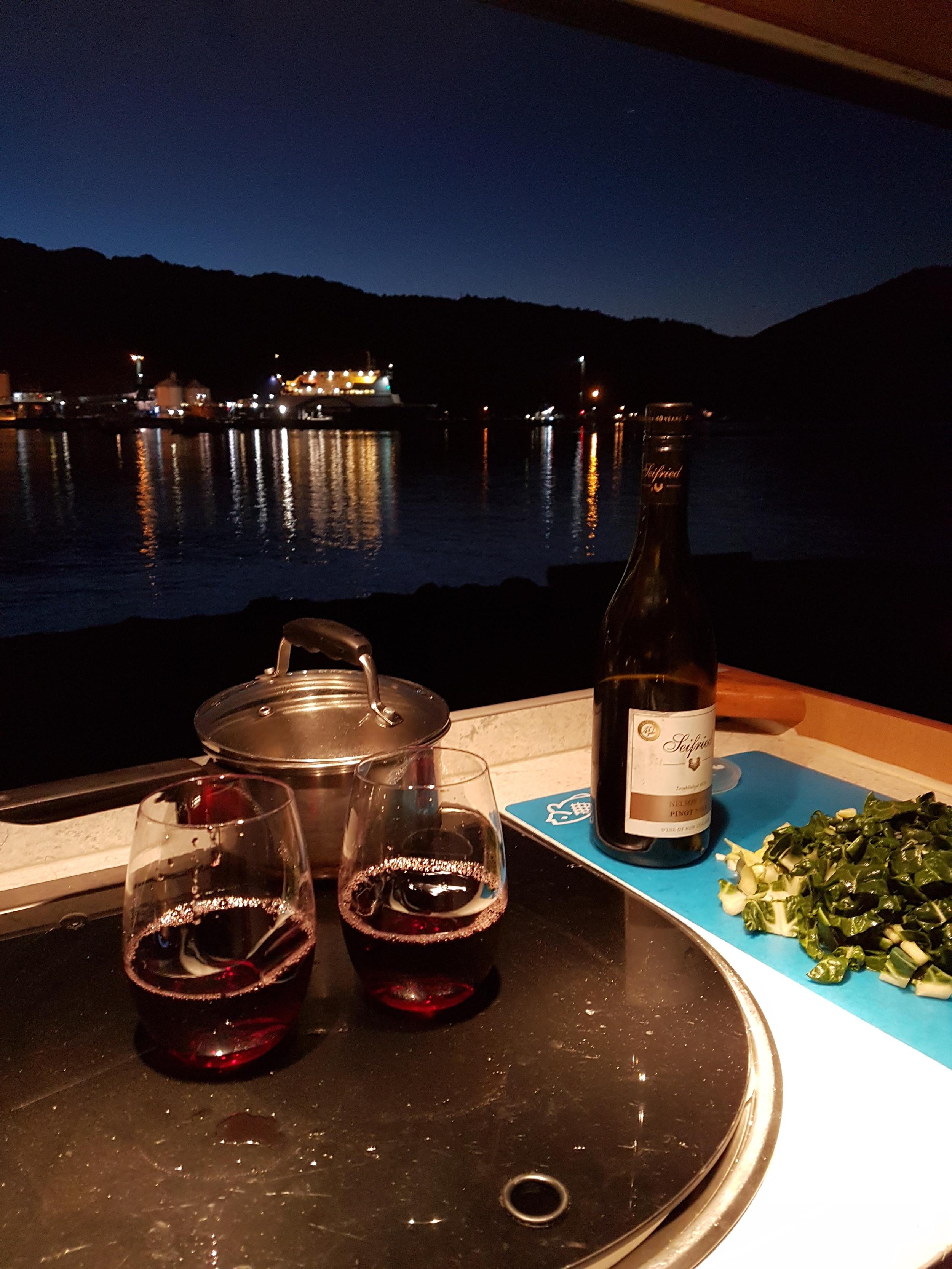 Dinner in Picton Harbour.