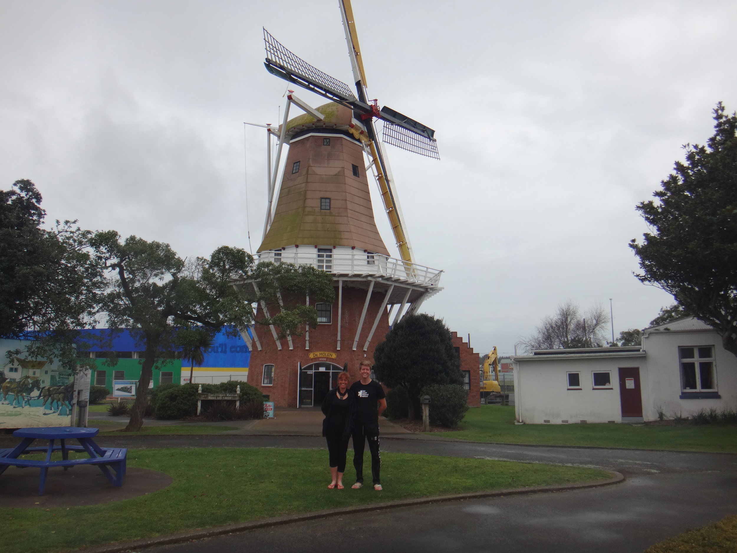 The Foxton windmill.