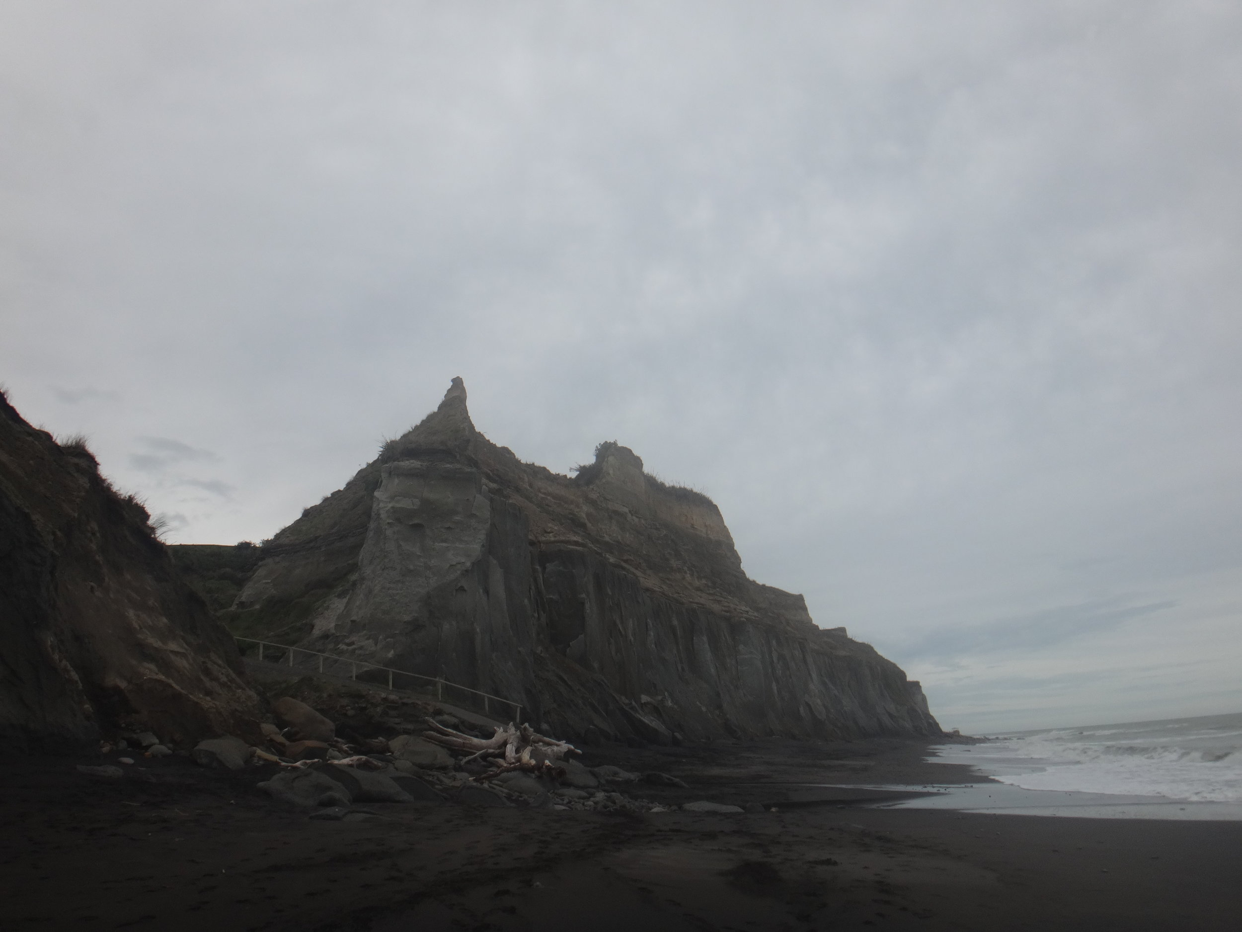 Waihi Beach South Taranaki. Such incredible cliffs.