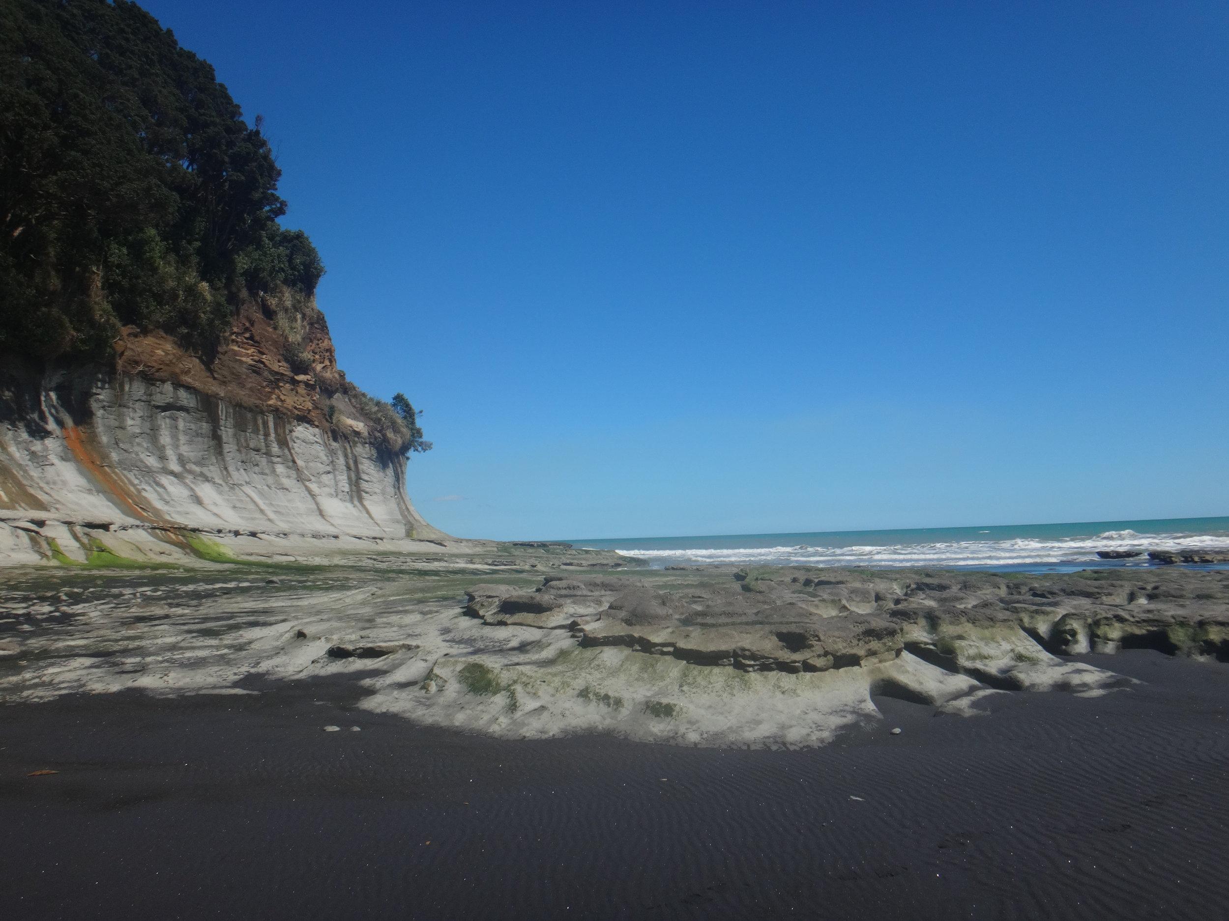 The cliffs.