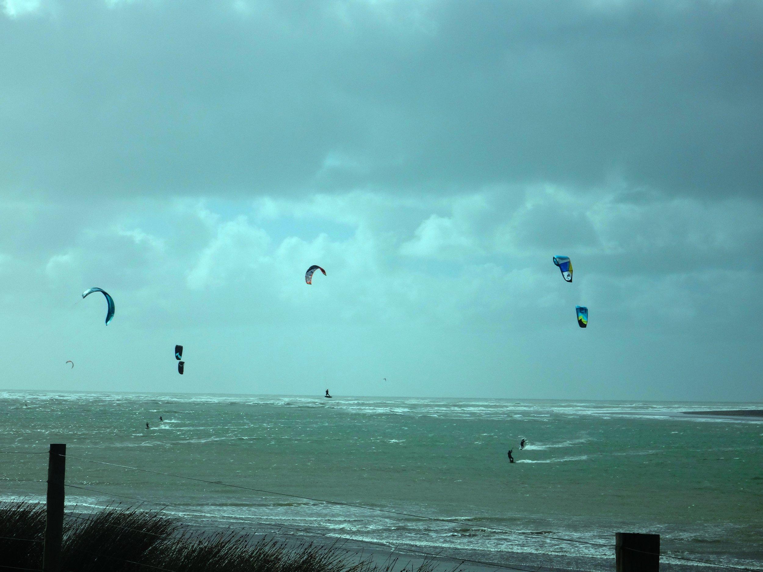Kite surfing gurus.