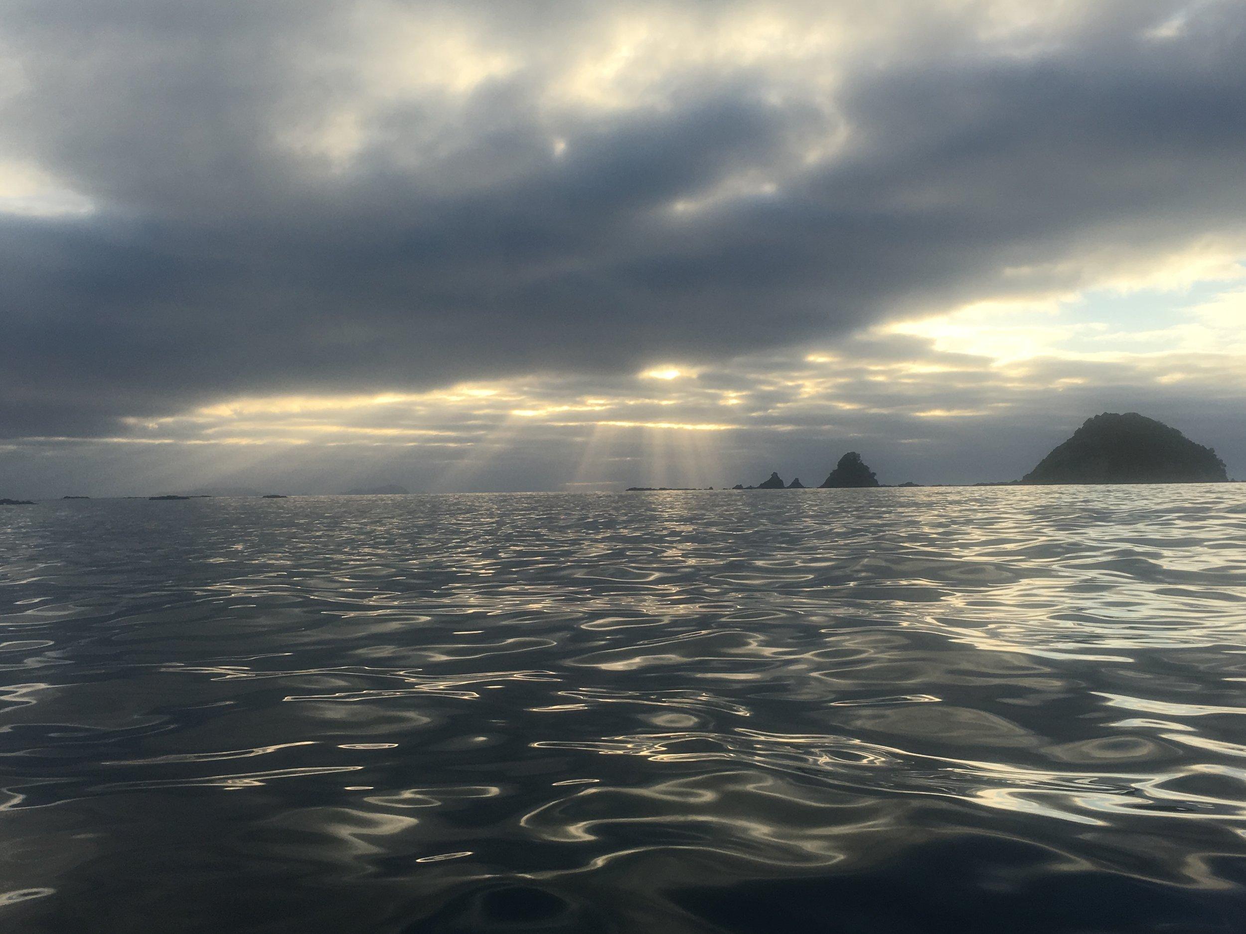 Pre sun-up in Bland Bay.