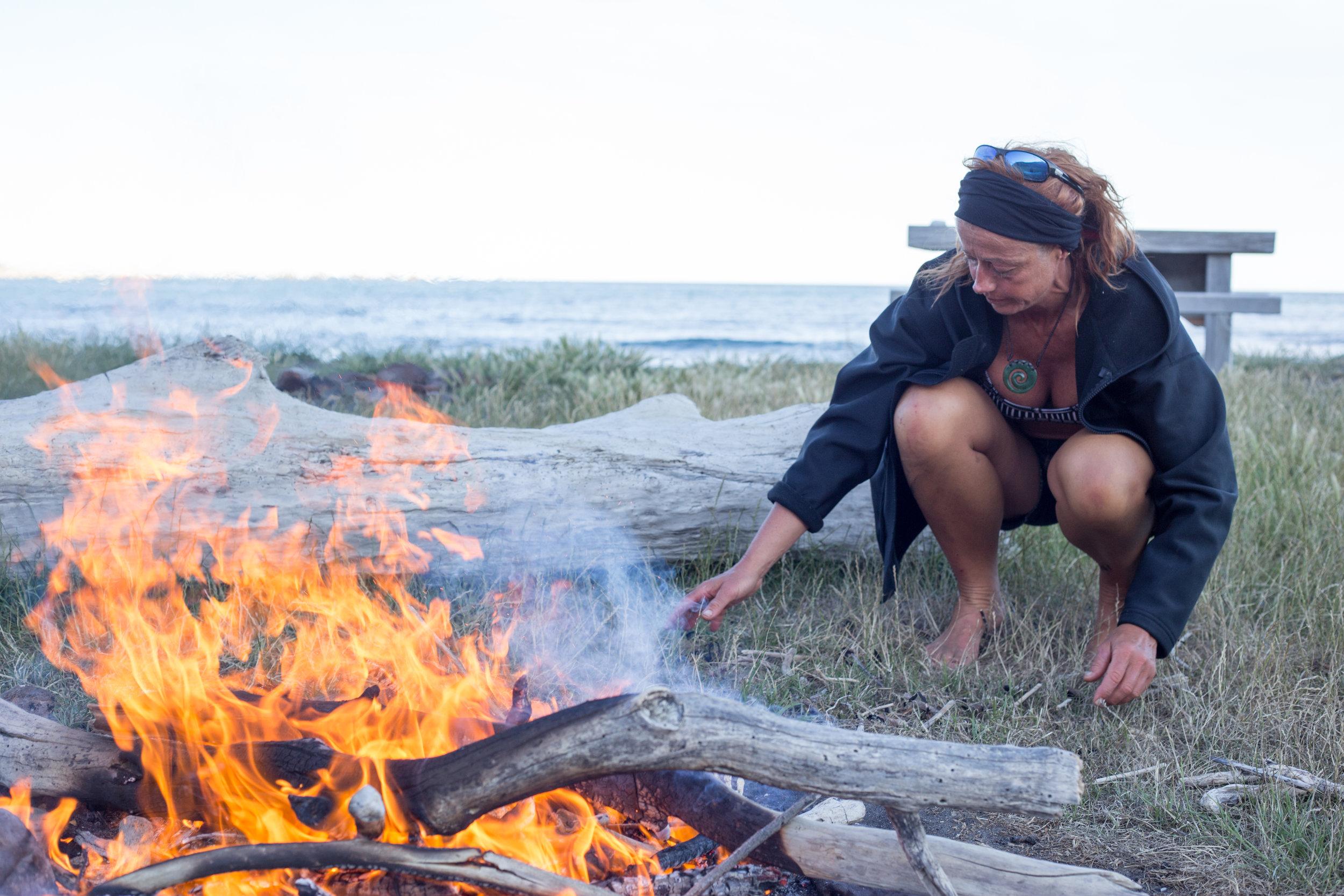 Campfires, Crayfish on the East Coast -North Island