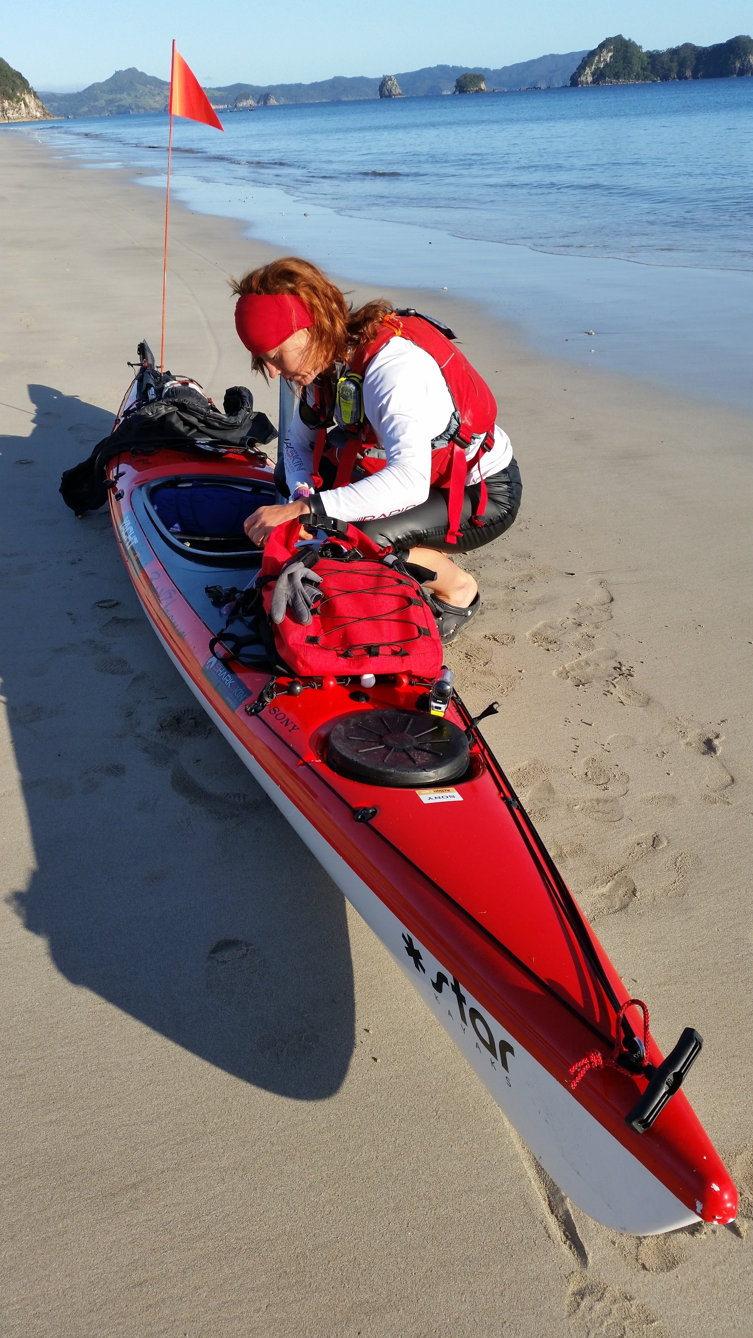 Thelma & Red... ( oh how I adored this little Red kayak)..