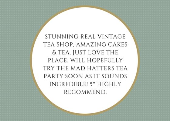 Vintage tea shop review