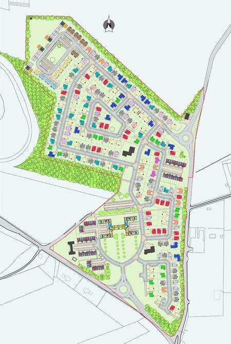 Residential Development, Winston Barracks, Lanark  click on thumbnails to view larger images