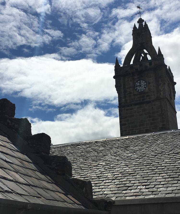 Crow-Stepped Gable 9 Montgomery Street & East Kilbride Old Parish Kirk