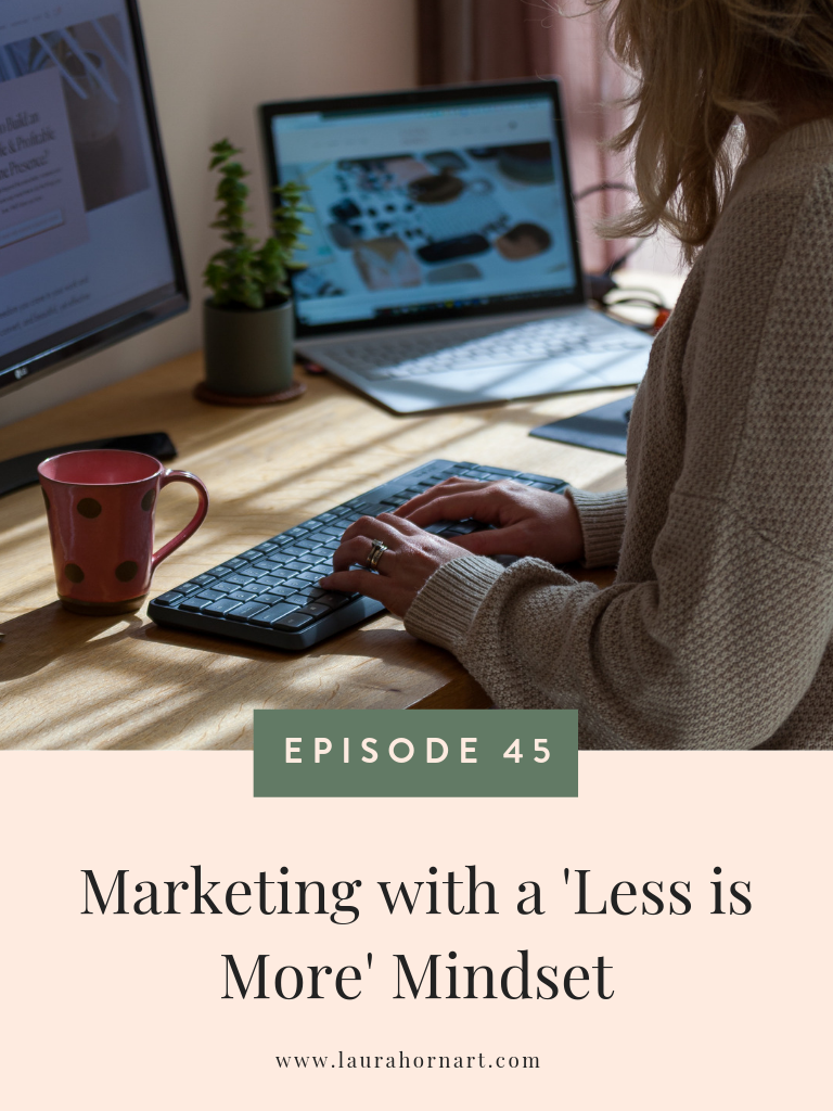 Marketing with a less is more mindset