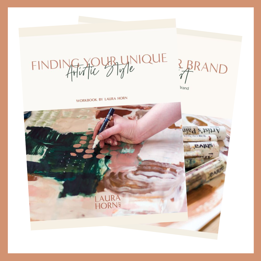 Download Your FREE Resources Now - Take action and start growing your confidence today. Download FREE workbooks on Finding Your Style and Building Your Brand as an Artist.