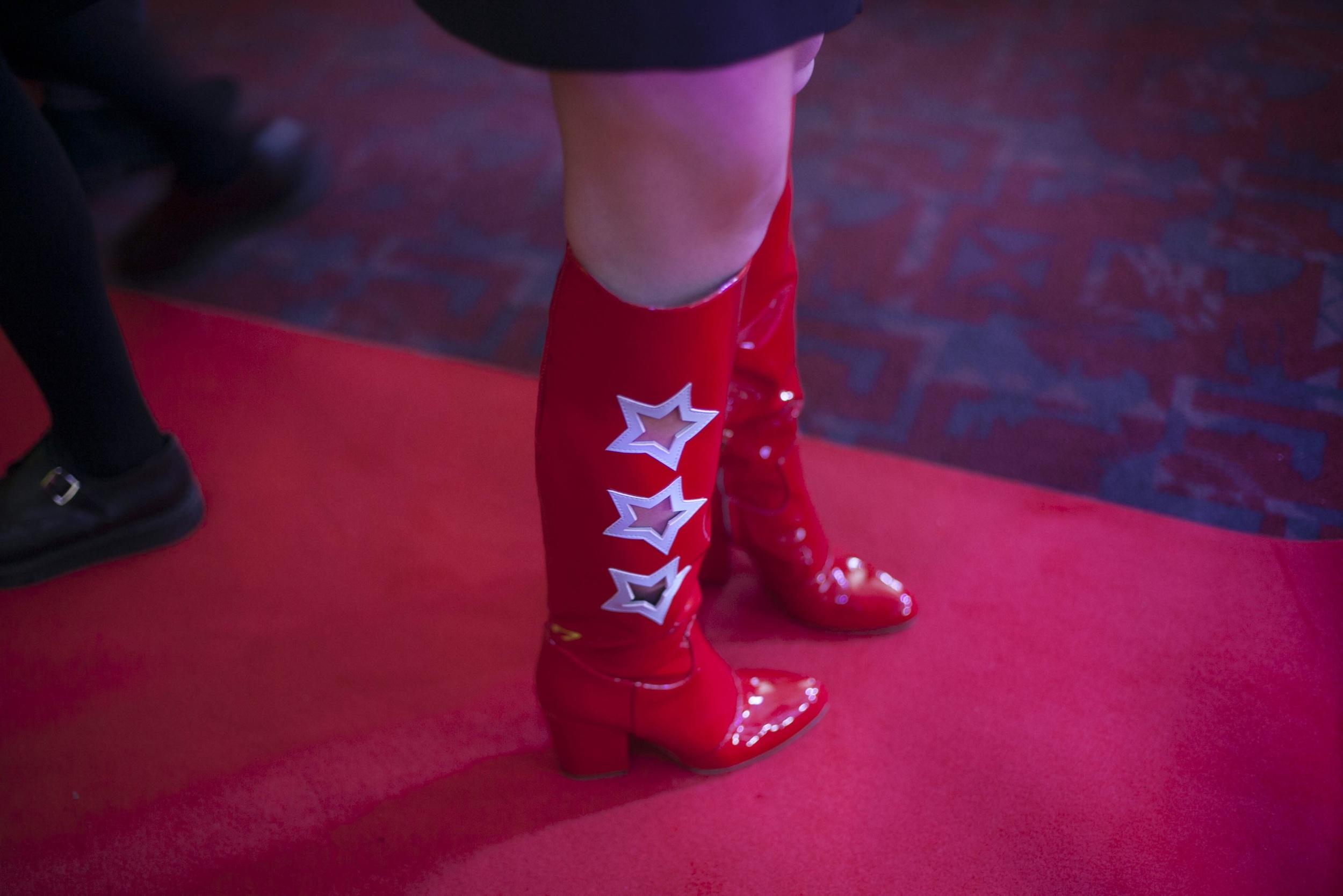 Star cut outs red boots - Chiara Ferragni