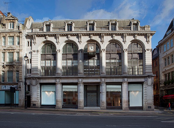 The glorious facade of the New Dover Street Market