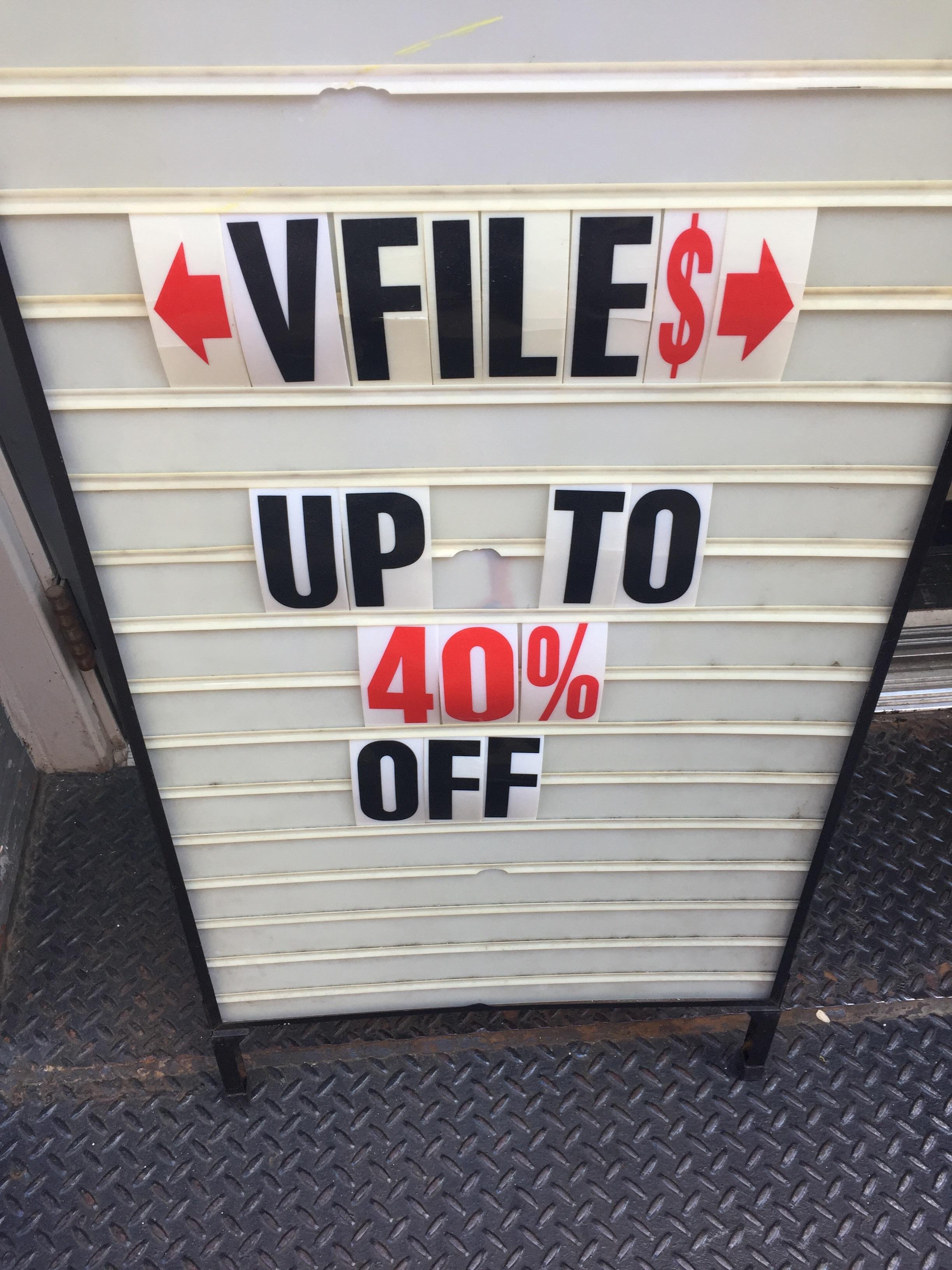 Sales at Vfile - New York