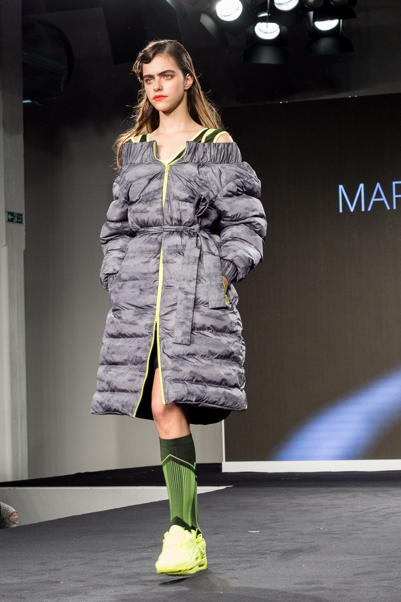Margarita Davydova - off the shoulder puffa!