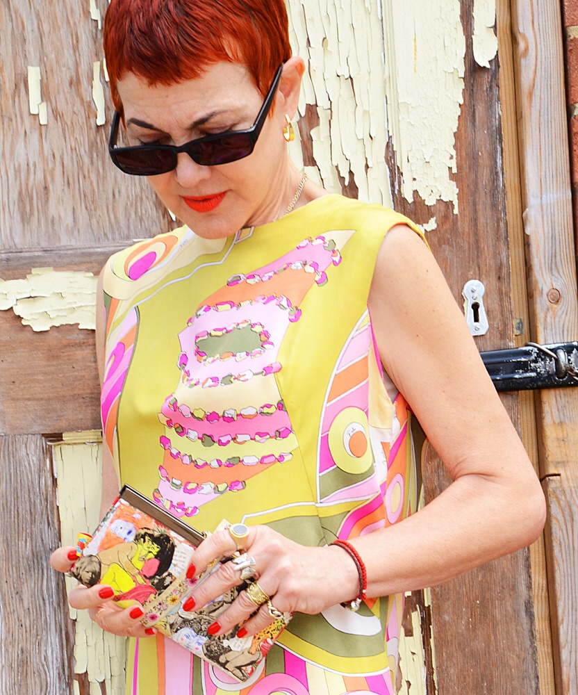 Emilio Pucci - vintage with artist Yaneth Albornoz purse