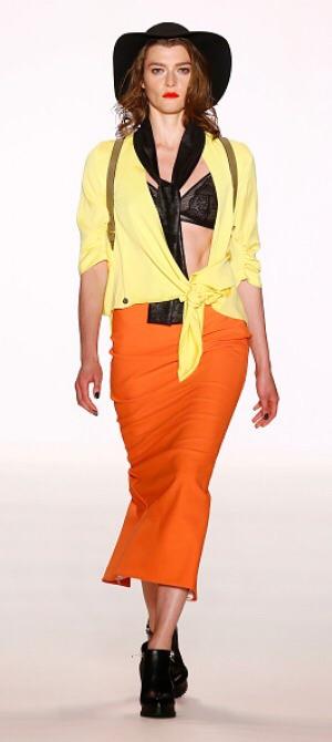 Bright orange and yellow combination.