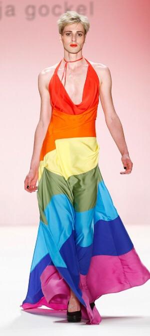 The Rainbow flag - a beautiful halter neck dress