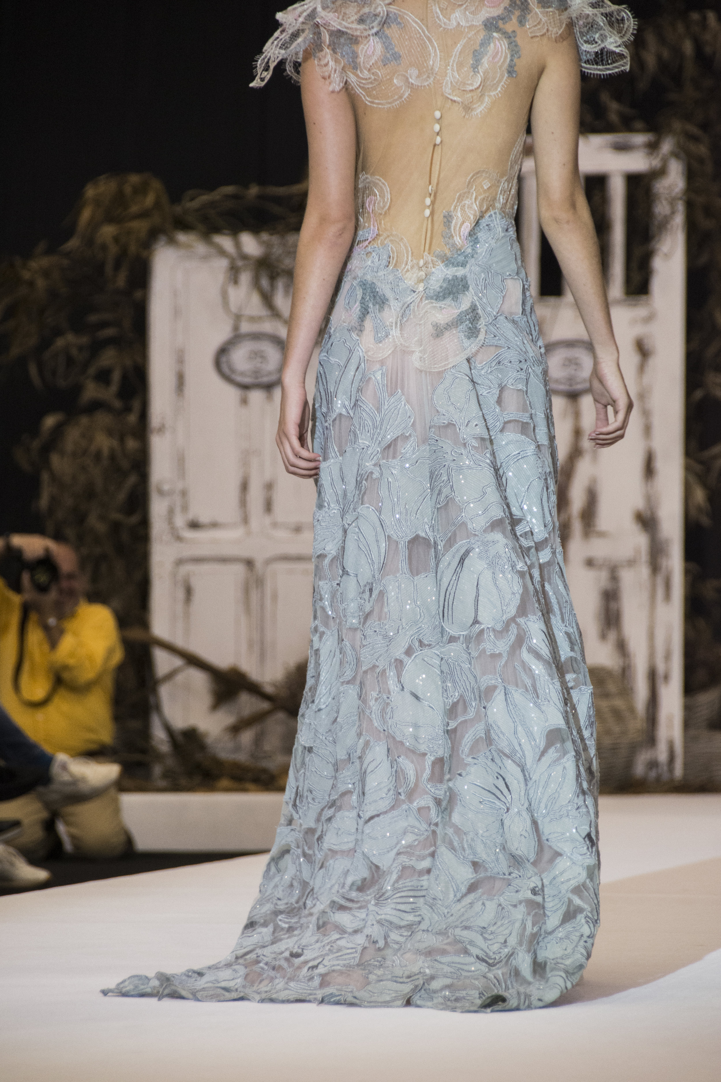 The collection has incorporated a tattoo technique with a very light lace creating an ethereal effect.