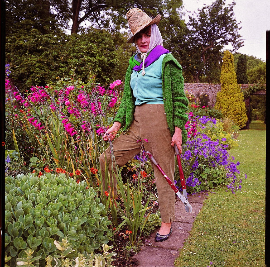 Lady Birley from the book 'Garden People' photographs by Valerie Finnis