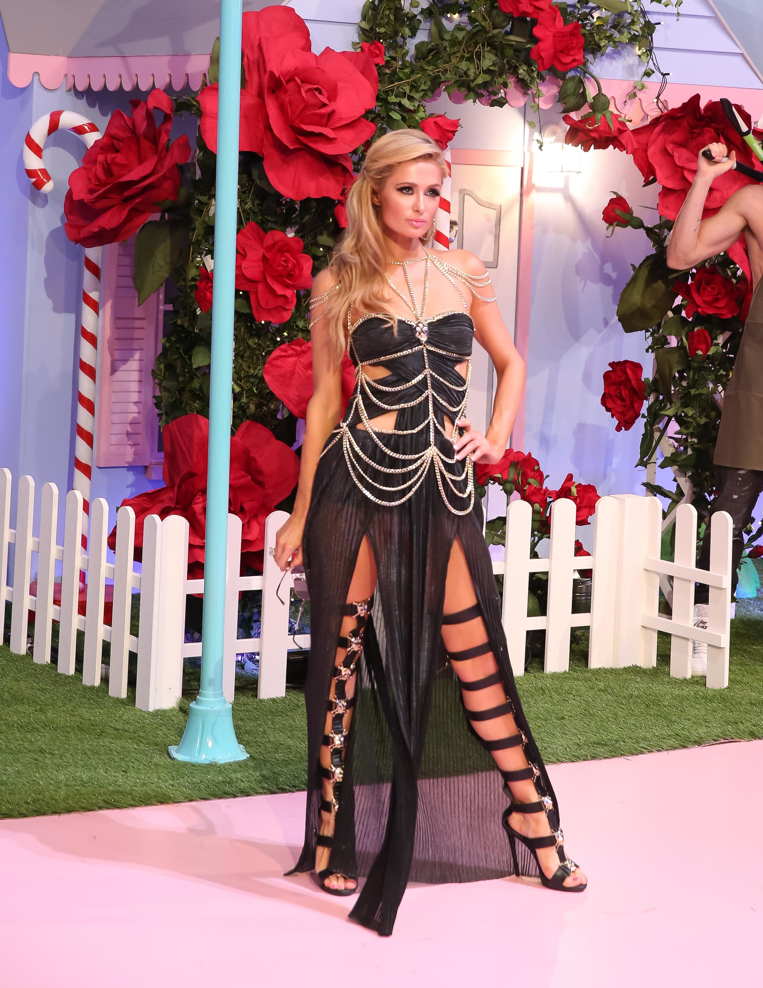 Paris Hilton on the runway for Philipp Plein