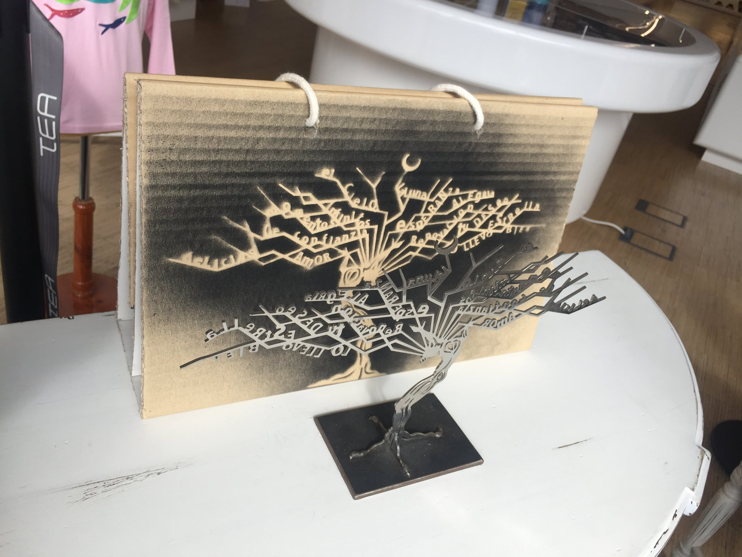 Julio Nieto tree of life sculpture comes in great packaging and can be inscribed. €190