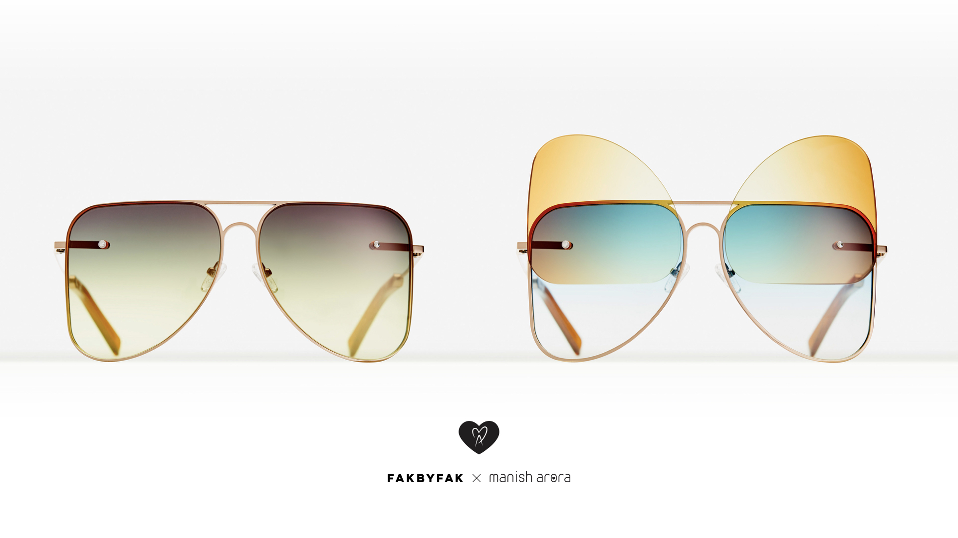 With or without - Manish Arora transformable eye wear Fakbyfak