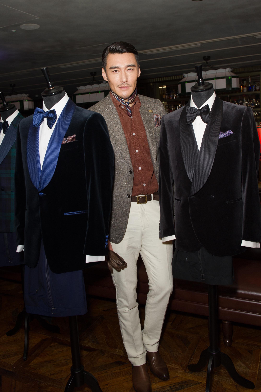 International LFWM ambassador Hu Bing looking sharp with AW17 formalwear