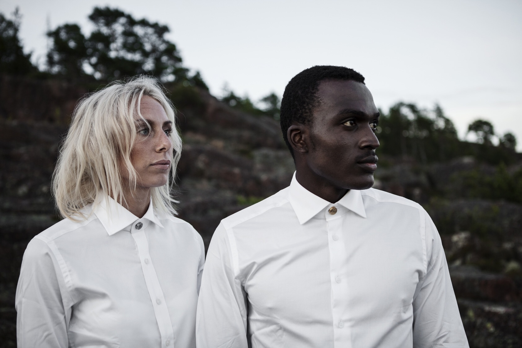 The classic white shirt with Runa of Sweden