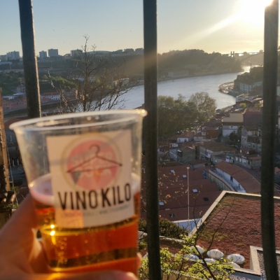 Celebrating a long Working Day in Porto. Made some progress on VinoKilo.
