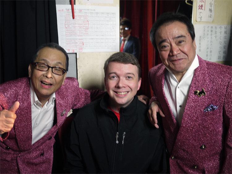 Backstage with Harukaze Kōta Fukuta at the Tōyōkan, 2012