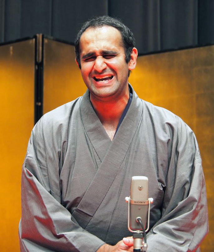 """I suspect that there will be a number of people who will tell you that it's not fair when I do rakugo because I'm funny to look at to begin with."" (Photo by Akina Mehta)"